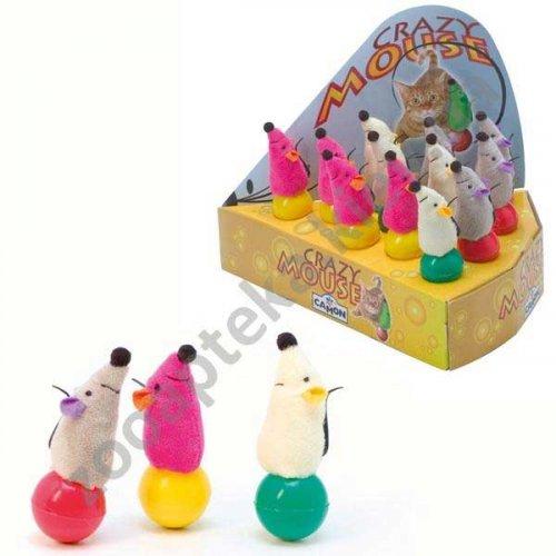 Camon - игрушка для кошек Камон мышь цветная неваляшка