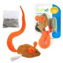 Coastal Turbo - мышка Костал с ярким хвостом и кошачьей мятой