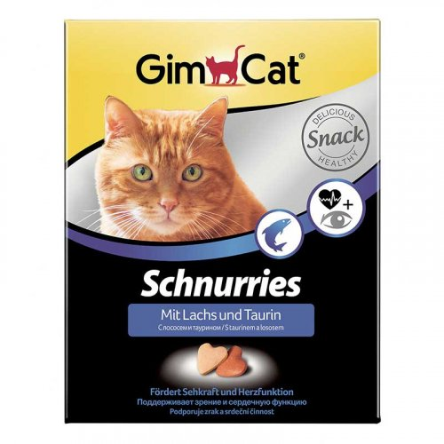 Gimpet - витамины Джимпет, сердечки с лососем и таурином для кошек