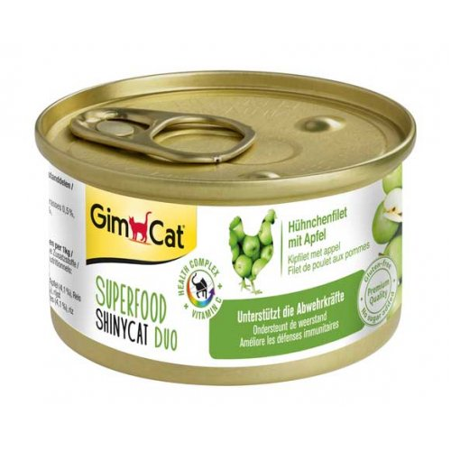 Gimpet ShinyCat Superfood - консервы Джимпет с курицей и яблоком