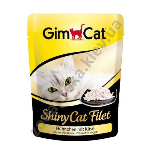 Gimpet ShinyCat Filet - консервы Джимпет цыпленок с сыром, пауч