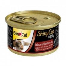 Gimpet ShinyCat - консервы Джимпет с курицей, креветками и солодом