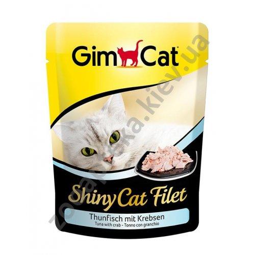 Gimpet ShinyCat Filet - консервы Джимпет тунец с крабом, пауч