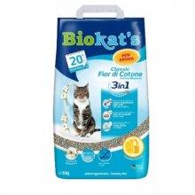Gimpet Biokats Fior de Cotton 3 in 1 - наполнитель Гимпет Биокетс с ароматом хлопка