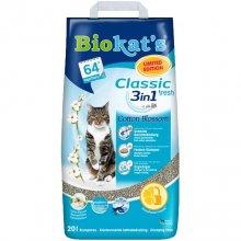 Gimpet Biokats Cotton Blossom 3 in 1 - наполнитель Гимпет Биокетс с ароматом хлопка и жасмина