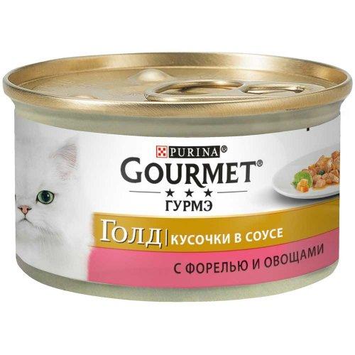 Gourmet Gold - корм Гурмет Голд кусочки в подливке с форелью и овощами для кошек
