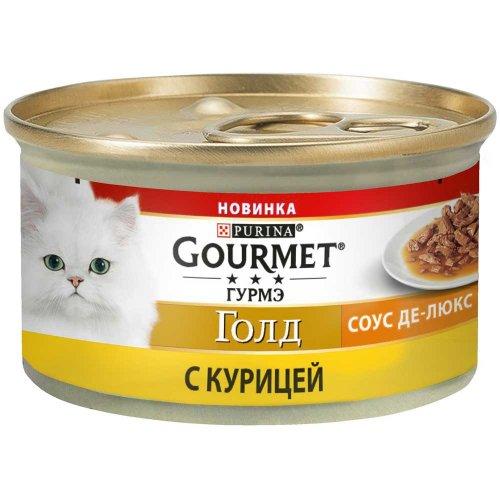 Gourmet Gold - корм Гурмет Голд Соус Де-Люкс с курицей для кошек