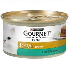 Gourmet Gold - корм Гурмет Голд Террин кусочки в паштете с кроликом по-французски для кошек