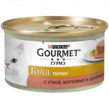 Gourmet Gold - корм Гурмет Голд кусочки в паштете с уткой, морковью и шпинатом по-французски