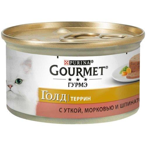 Gourmet Gold - корм Гурмет Голд Террин кусочки в паштете с уткой, морковью и шпинатом по-французски