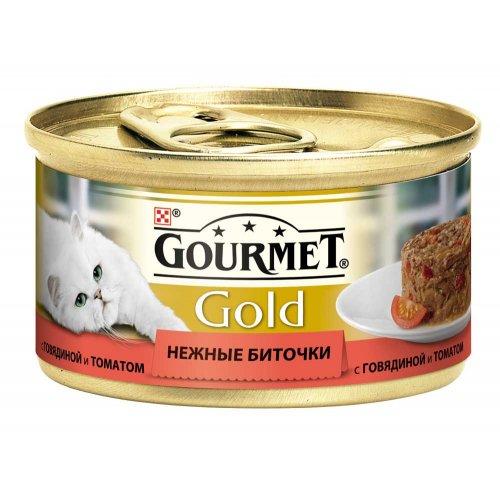 Gourmet Gold - корм Гурмет Голд Нежные биточки с говядиной и томатами для кошек