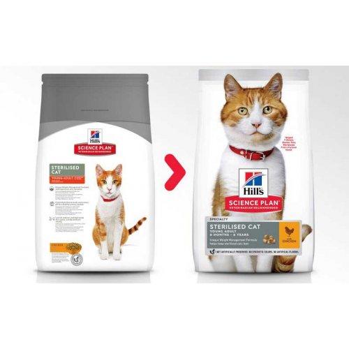 Hills SP Adult Young Sterilised Chicken - корм Хиллс для стерилизованных кошек от 6 месяцев
