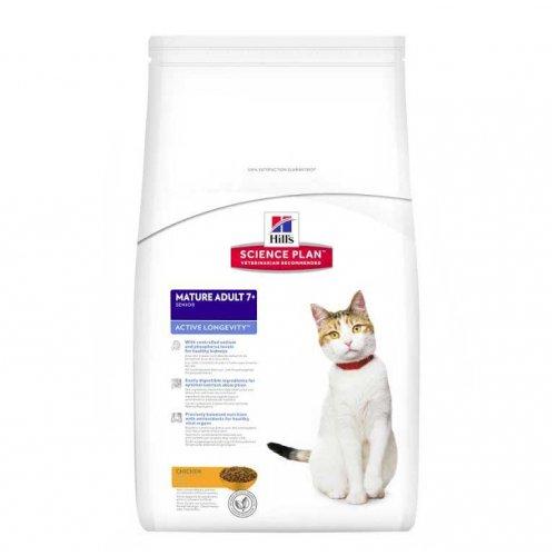 Hills SP Mature Adult 7+ - корм Хилс для кошек старше 7 лет с курицей