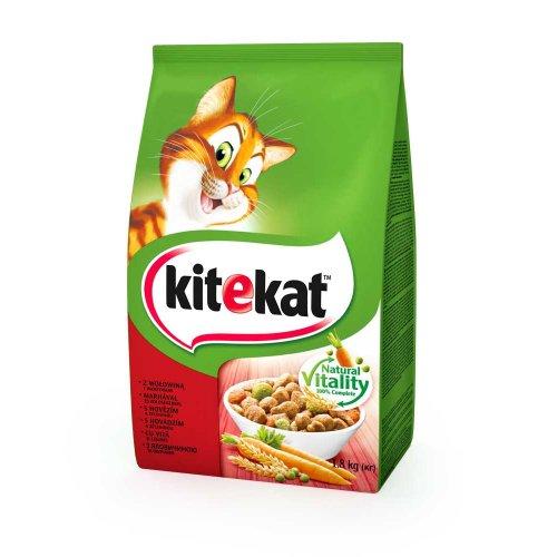 Kitekat - сухой корм Китекет с говядиной и овощами