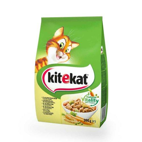 Kitekat - сухой корм Китекет с курицей и овощами