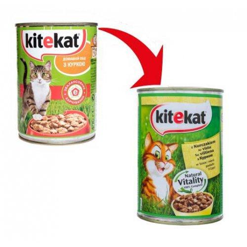 Kitekat - консервы Китекет с курицей в соусе для кошек, банка