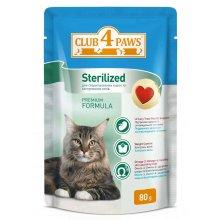 Клуб 4 Лапы консрвированный корм для стерилизованных кошек