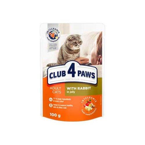 C4P Premium консервированный корм с кроликом в желе для кошек
