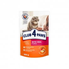 C4P Premium консервированный корм с телятиной в соусе для кошек