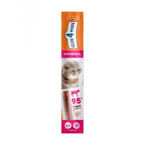 C4P Premium - мясная палочка Клуб 4 Лапы с говядиной для кошек