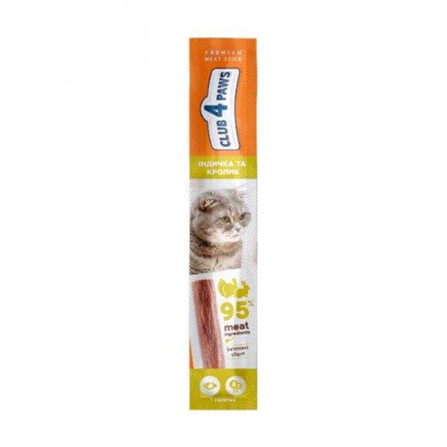 C4P Premium - мясная палочка Клуб 4 Лапы с индейкой и кроликом для кошек