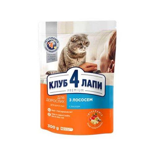 C4P Premium with Salmon - корм Клуб 4 Лапы с лососем для кошек