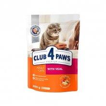 C4P Premium with Veal - корм Клуб 4 Лапы с телятиной для кошек