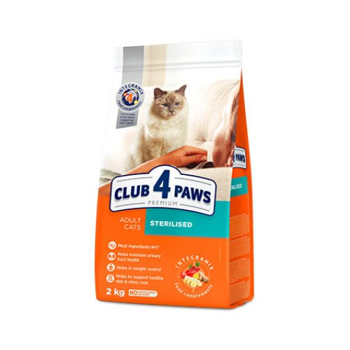 C4P Premium Sterilised - корм Клуб 4 Лапы для стерилизованных кошек