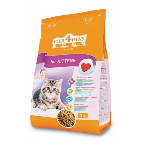 Сухой корм Клуб 4 лапы для котят