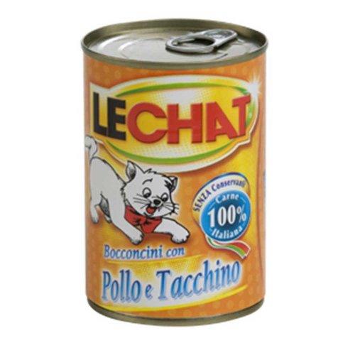 LeChat - консервы Ле Чат Мясные кусочки с курицей и индейкой для кошек