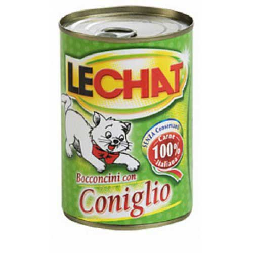 LeChat - консервы Ле Чат Мясные кусочки с кроликом для кошек