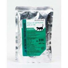 Леопольд - консервы Мясной деликатес с телятиной для кошек