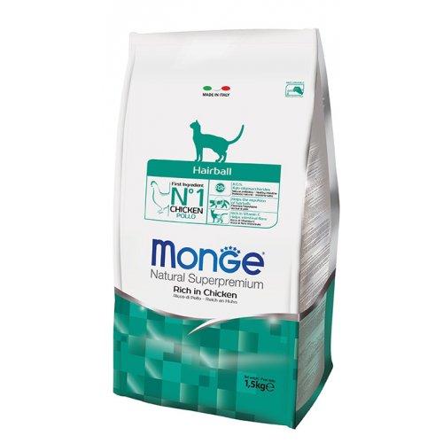 Monge Hairball - корм Монже для выведения шерсти у взрослых кошек