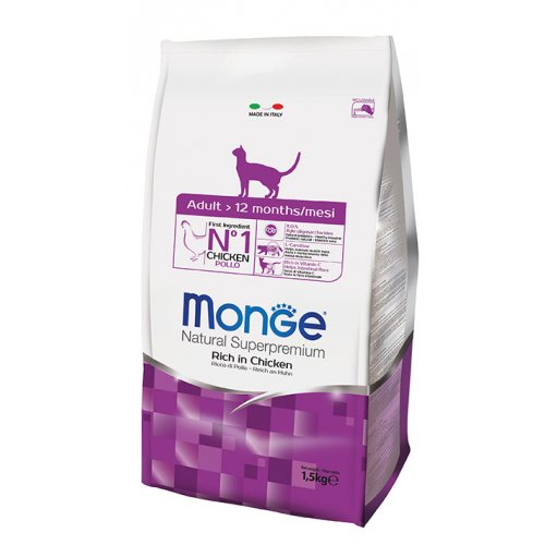 Monge Adult Cat - корм Монже с курицей для взрослых котов