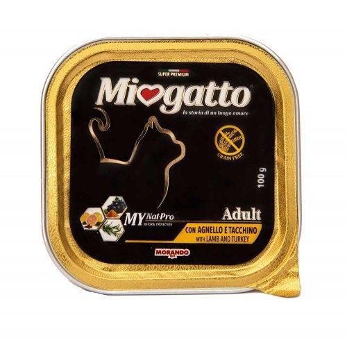 Morando Miogatto - консервы Морандо с бараниной и индейкой для кошек