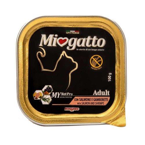 Morando Miogatto - консервы Морандо с лососем и креветками для кошек