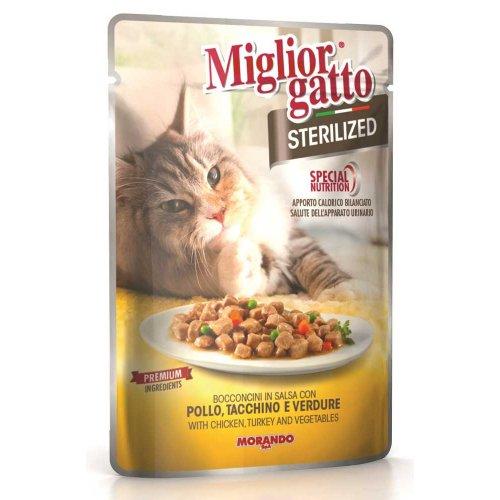 Morando Migliorgatto - консервы Морандо с курицей, индейкой, овощами для стерилизованных кошек