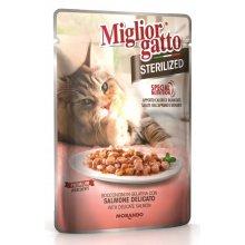 Morando Migliorgatto - консервы Морандо с лососем для стерилизованных кошек
