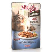 Morando Migliorgatto - консервы Морандо с рыбой и креветками для стерилизованных кошек