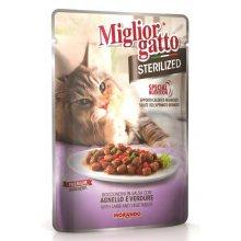 Morando Migliorgatto - консервы Морандо с ягненком и овощами для стерилизованных кошек