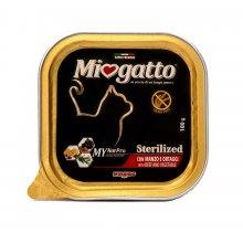 Morando Miogatto Sterilized - консервы Морандо с говядиной и овощами для стерилизованных кошек