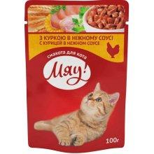 Корм Мяу! курица в нежном соусе для взрослых кошек