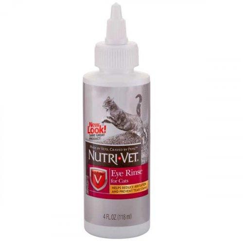 Nutri-Vet Eye RInse - глазные капли Нутри-Вет Чистые Глаза для кошек