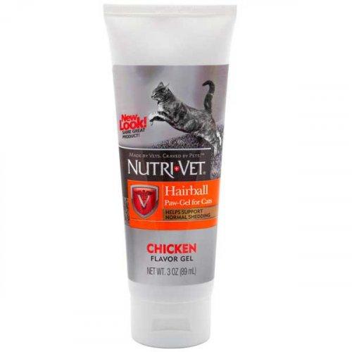Nutri-Vet Hairball Paw-Gel - гель Нутри-Вет выведение шерсти для кошек