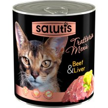 Salutis Trattoria Menu - консервы Салютис Мясное ассорти с говядиной и субпродуктами для кошек