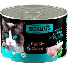Salutis Chef Nature - мясной паштет Салютис с кроликом для кошек