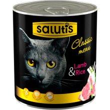 Salutis Classic Menu - консервы Салютис Мясной рацион с ягненком для кошек