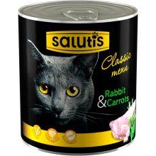 Salutis Classic Menu - консервы Салютис Мясной рацион с кроликом для кошек