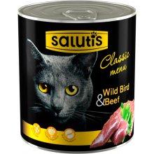 Salutis Classic Menu - консервы Салютис Мясной рацион с птицей для кошек