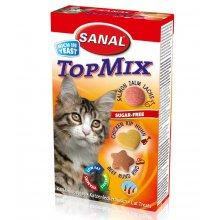 Sanal Cat TopMix - мультивитаминное лакомство Санал с говядиной, курицей и лососем